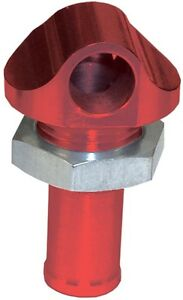 """HOT PRODUCTS 90 DEGREE 1/2"""" RED ANODIZED BYPASS FITTING"""