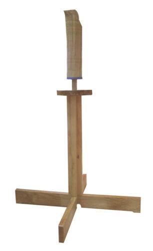 "RYUJIN 35"" Wooden Kendo Tameshigiri Samurai Sword Practice Train Cutting Stand"