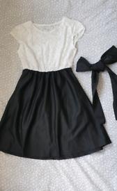 Dress, size S, black&white, lace