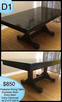 CUSTOM RUSTIC FARMHOUSE TRESTLE DINING TABLES