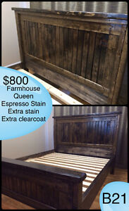RUSTIC SOLID WOOD FARMHOUSE BEDS - TWIN/DOUBLE/QUEEN/KING/BUNK Kingston Kingston Area image 10