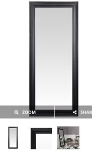 Tall Black Wooden Frame Mirror
