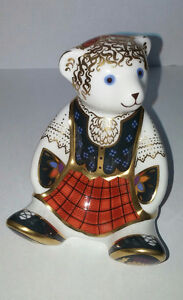 Royal Crown Derby Scottish Teddy- Shona