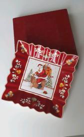 Villeroy & Boch Square Platter - Christmas themed Porcelain China Boxe