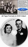 VHS, VHS-C, Mini DV, Beta, 8mm Tapes and film To DVD !