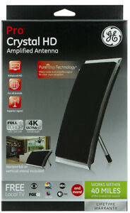 GE Pro Crystal HD Amplified Antenna  Smart TV Compatible