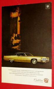 1969 CADILLAC COUPE DE VILLE VINTAGE CAR AD - ANONCE RETRO AUTO