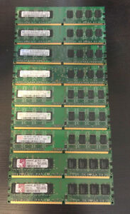 1G DDR2 for desktop (LOT OF 9 pieces)
