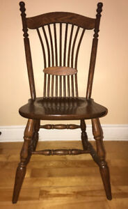 Mennonite Hardwood Chairs - 6 chairs (1 Captain's chair)