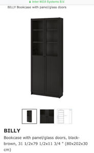 IKEA billy book case fully assembled black brown