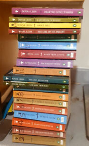 Set of 19 Donna Leon Venetian Guido Brunetti Mystery Books