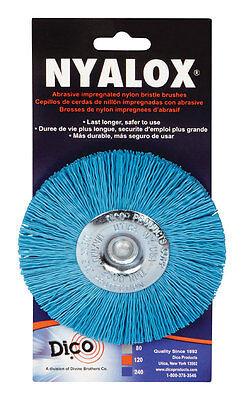 Nyalox Dico 4 In. Dia. Fine Crimped Wire Wheel Brush 2500 Rpm