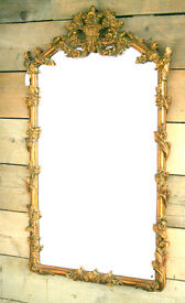 Rococo Style Mantle Mirror – Gold in Excellent Condition