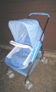 Nice Fisher Price Convertable Carriage-Stroller (flat to seat)