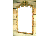 Rococo Style Gold Mantle Mirror – in excellent condition