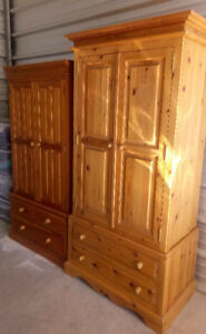 Three Solid Pine Armoires/Wardrobes for Sale