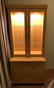 TWO CABINETS IN GREAT CONDITION, PERFECT FOR HOME OFFICE!