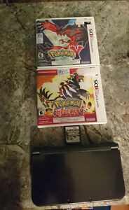 New 3ds XL Black with pokemon games