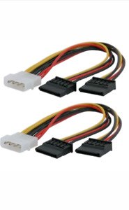 2x Molex to 2x Power Sata Splitter Adapter