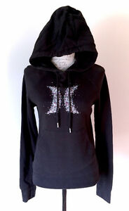 HURLEY Black Logo Hoodie Sweater Pull Over - Size Small S