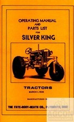 Silver King Operating Instructions & Parts List - Parts List Manual
