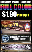 Custom made full color in/outdoor vinyl Banners