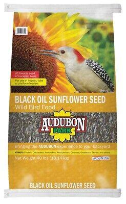Audubon Park 11801 Black Oil Sunflower Seed Wild Bird Food 4