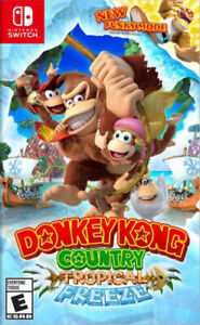 Donkey Kong Tropical Freeze and Kirby Star Allies Switch Games