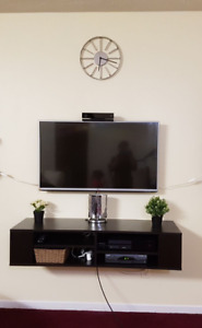 South Shore City Life Chocolate Wall Mounted Media Console