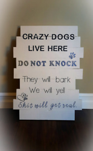 Custom porch signs. Can be made in any color/size/style