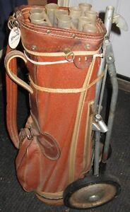 Vintage 1950's era leather golf bag Peterborough Peterborough Area image 2