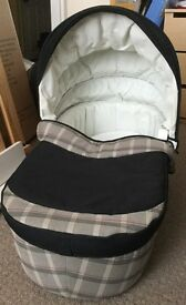 """""""Inglesina"""" zippy stroller and carry cot (with mattress)."""