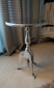 Silver Metal Indian Side table