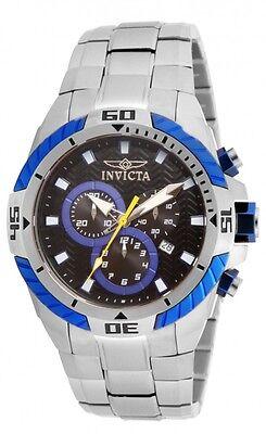 New Invicta 16065 Big Pro Diver Chronograph Black Blue Dial Steel Bracelet Watch