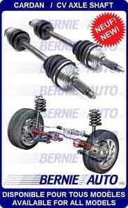 NEW AXLES WITH WARRANTY /CARDANS NEUF AVEC GARANTIE