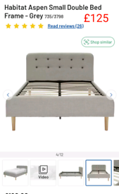 Aspen small Double bed frame only £125. RBW Clearance Outlet Leicester