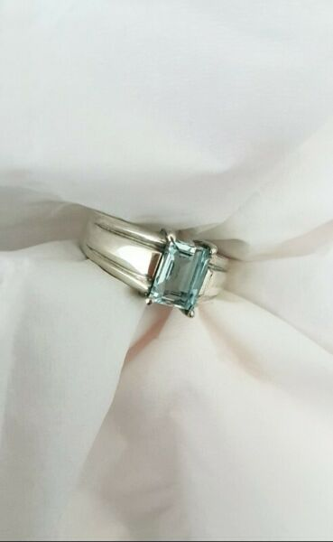 S$499.99 - MEN'S AQUAMARINE RING