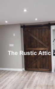Rustic Custom Sliding Barn Doors Hancrafted Soft Close Bypass