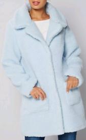 Ladies fluffy coat size 12 new