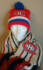 Montreal Canadians HABS Winter Hat & Scarf Mitchell & Ness