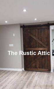 Custom Handcrafted Sliding Barn Doors, Bypass Soft Close Hardwar