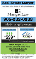 Lawyer - Real Estate- 905-232-0333 - Reasonable Fees