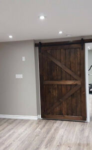 Rustic Custom Handcrafted Sliding Barn Doors Soft Close Hardware