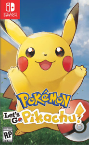 New In Box POKEMON LET'S GO PIKACHU Game For NINTENDO SWITCH