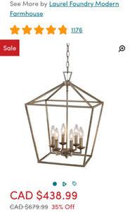 6 light foyer chandelier