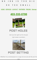 Post hole service. Fence / Deck.  Calgary & Airdrie