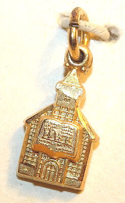 Baptist Church Charm Gold Vermeil Sterling Silver Vintage Hayward New Old Stock