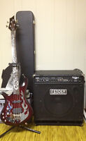 Left Handed Traben Phoenix Bass and Fender Rumble 150w Amp