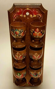 USED great condition 8 cup wooden set