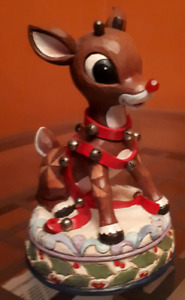 Jim Shore 9 inch Rudolph and 3 inch Santa and Rudolph